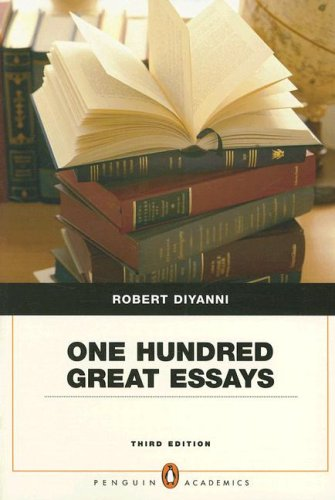 One Hundred Great Essays  3rd 2008 9780205535552 Front Cover