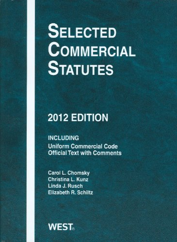 Selected Commercial Statutes 2012   2012 edition cover