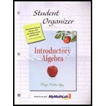 Introductory Algebra Student Organizer:   2011 edition cover