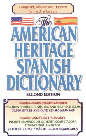 American Heritage Spanish Dictionary  2nd 2000 (Revised) edition cover