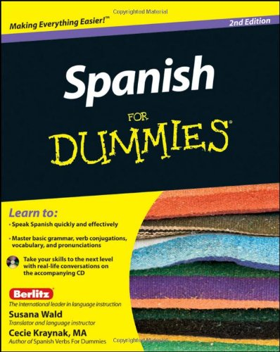 Spanish for Dummies�  2nd 2011 edition cover