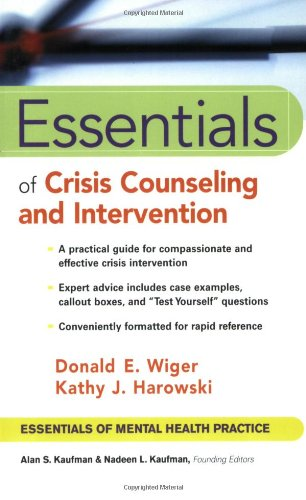 Essentials of Crisis Counseling and Intervention   2003 edition cover