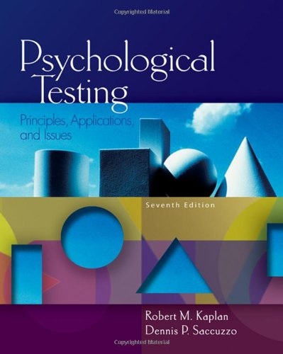 Psychological Testing Principles, Applications, and Issues 7th 2009 edition cover