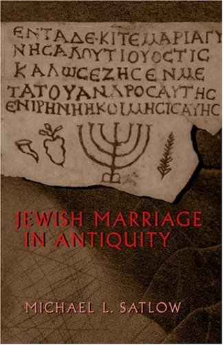 Jewish Marriage in Antiquity   2001 edition cover