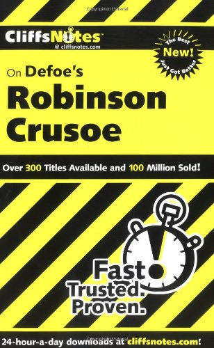 CliffsNotes on Defoe's Robinson Crusoe  2nd 2004 (Revised) edition cover