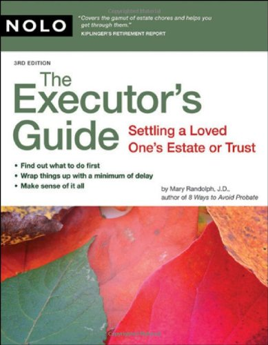Executor's Guide Settling a Loved One's Estate or Trust 3rd 2008 (Revised) edition cover