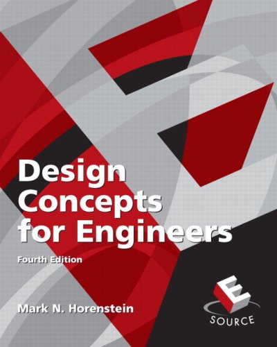 Design Concepts for Engineers  4th 2010 edition cover