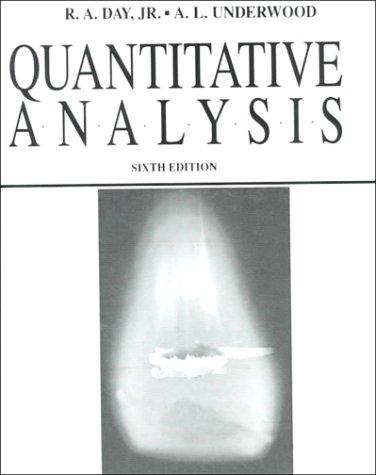 Quantitative Analysis  6th 1991 edition cover
