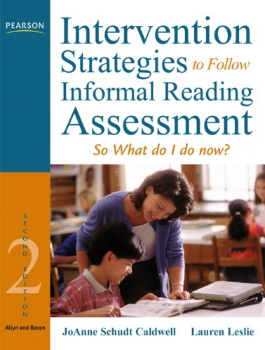 Intervention Strategies to Follow Informal Reading Inventory Assessment So What Do I Do Now? 2nd 2009 edition cover