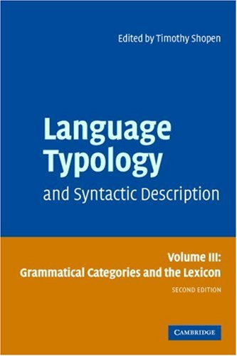 Language Typology and Syntactic Description Grammatical Categories and the Lexicon 2nd 2006 (Revised) 9780521588553 Front Cover