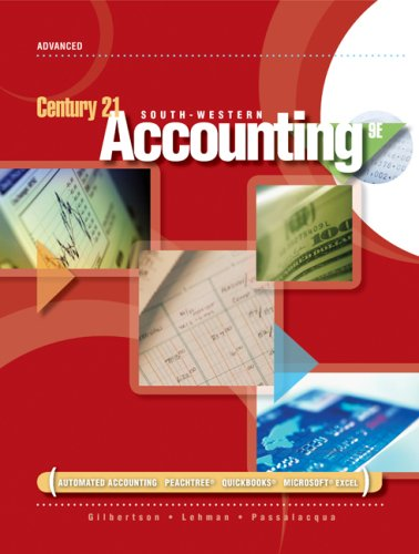 Century 21 Accounting Advanced 9th 2009 (Revised) 9780538447553 Front Cover