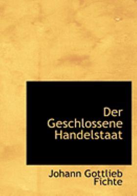 Geschlossene Handelstaat  2008 edition cover
