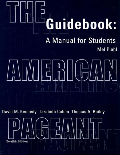 American Pageant Guidebook A Manual for Students 12th 2002 (Student Manual, Study Guide, etc.) edition cover
