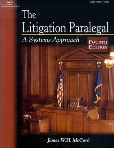 Litigation Paralegal A Systems Approach 4th 2002 edition cover