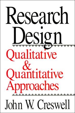 Research Design Qualitative and Quantitative Approaches  1994 edition cover