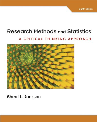 research methods and statistics a critical thinking approach 2012 Abebookscom: research methods and statistics: a critical thinking approach (9781111346553) by sherri l jackson and a great selection of similar new, used and collectible books available.