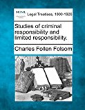 Studies of criminal responsibility and limited Responsibility  N/A 9781240132553 Front Cover