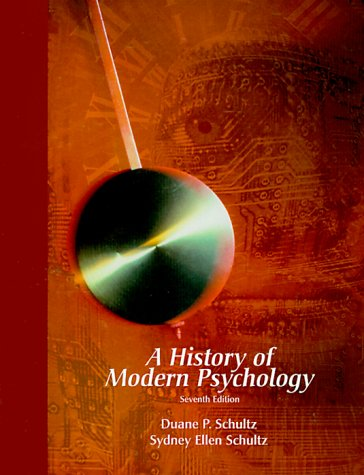 History of Modern Psychology  7th 2000 edition cover