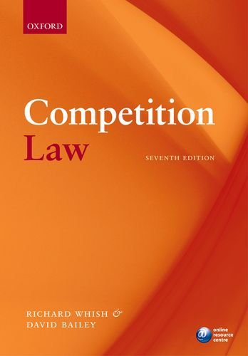 Competition Law  7th 2011 9780199586554 Front Cover