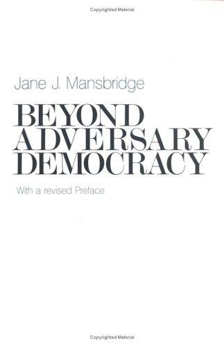 Beyond Adversary Democracy   1983 (Reprint) edition cover