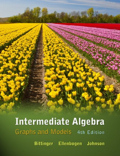 Intermediate Algebra Graphs and Models 4th 2012 edition cover
