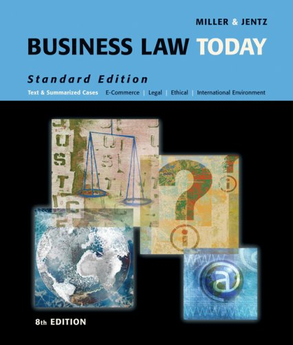 Business Law Today  8th 2008 (Revised) 9780324654554 Front Cover