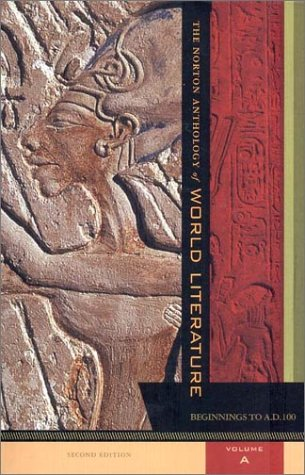 Norton Anthology of World Literature : Beginnings to A.D. 100 2nd 2001 edition cover
