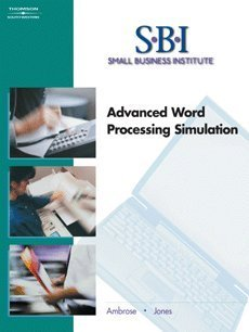 Advanced Word Processing Simulation  2nd 2005 (Revised) 9780538437554 Front Cover