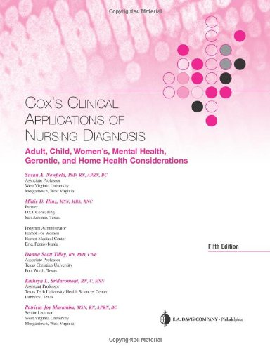 Cox's Clinical Applications of Nursing Diagnosis Adult, Child, Women's, Mental Health, Gerontic, and Home Health Considerations 5th 2007 (Revised) edition cover