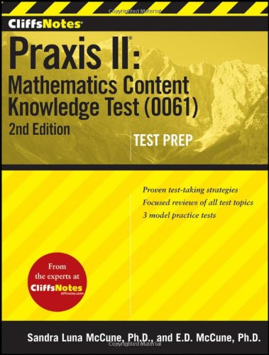 Praxis II Mathematics Content Knowledge Test (0061) 2nd 2012 edition cover