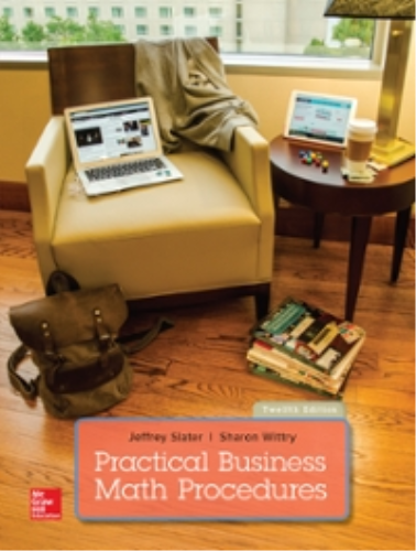 Practical Business Math Procedures:  12th 2016 9781259540554 Front Cover