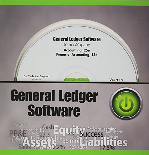 General Ledger Software CD-ROM for Warren/Reeve/Duchac's Accounting, 25th and Warren's Financial Accounting 13e  25th 2014 edition cover