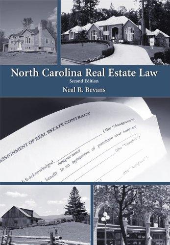 North Carolina Real Estate Law  2nd 2009 edition cover