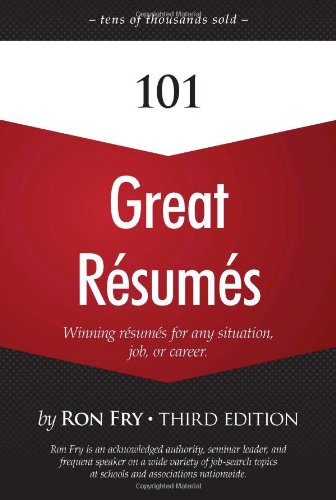 101 Great Resumes  3rd 2010 9781598638554 Front Cover