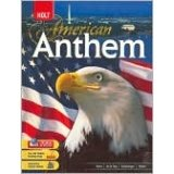 American Anthem, Grades 9-12: American Anthem Modern American History 1st 2009 9780030994555 Front Cover