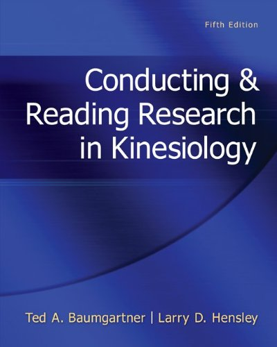 Conducting and Reading Research in Kinesiology  5th 2013 edition cover