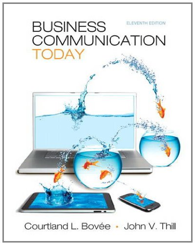 Business Communication Today  11th 2012 edition cover