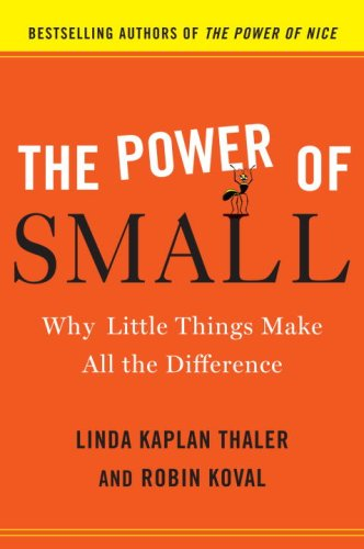 Power of Small Why Little Things Make All the Difference  2009 edition cover