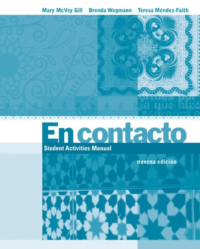 En Contacto  9th 2012 9780495908555 Front Cover