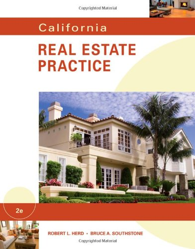California Real Estate Practice  2nd 2011 9780538740555 Front Cover