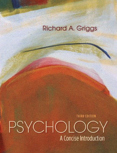 Psychology A Concise Introduction 3rd 2012 (Revised) edition cover