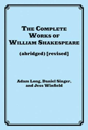 Complete Works of William Shakespeare   2011 edition cover