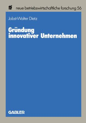 Gründung Innovativer Unternehmen:   1989 edition cover