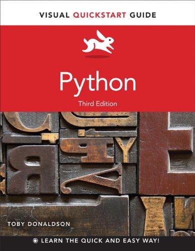 Python Visual QuickStart Guide 3rd 2014 edition cover
