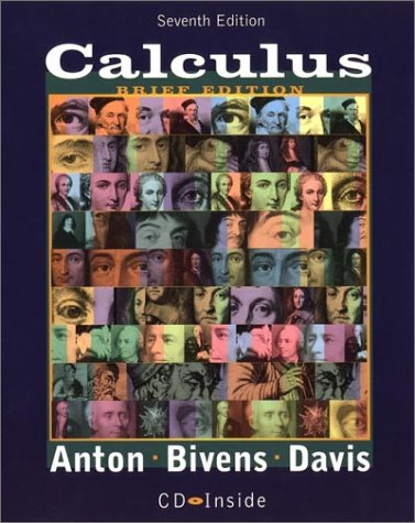 Calculus Late Transcendentals 7th 2002 (Brief Edition) edition cover
