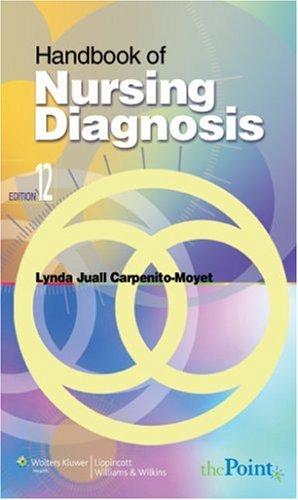 Handbook of Nursing Diagnosis  10th 2004 (Revised) edition cover