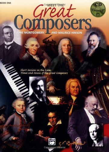Meet the Great Composers, Bk 1 Book and CD  1995 9780882848556 Front Cover