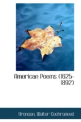 American Poems  N/A 9781113185556 Front Cover