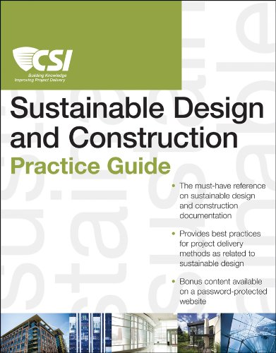 CSI Sustainable Design and Construction Practice Guide   2014 9781118078556 Front Cover