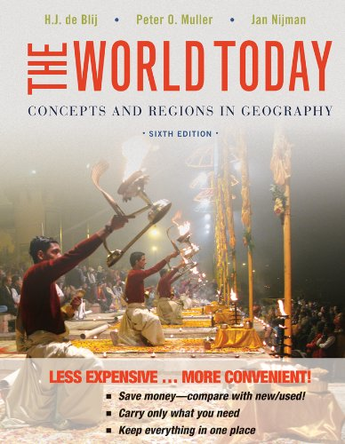 World Today Concepts and Regions in Geography, Sixth Edition Binder Ready Version 6th 2013 edition cover